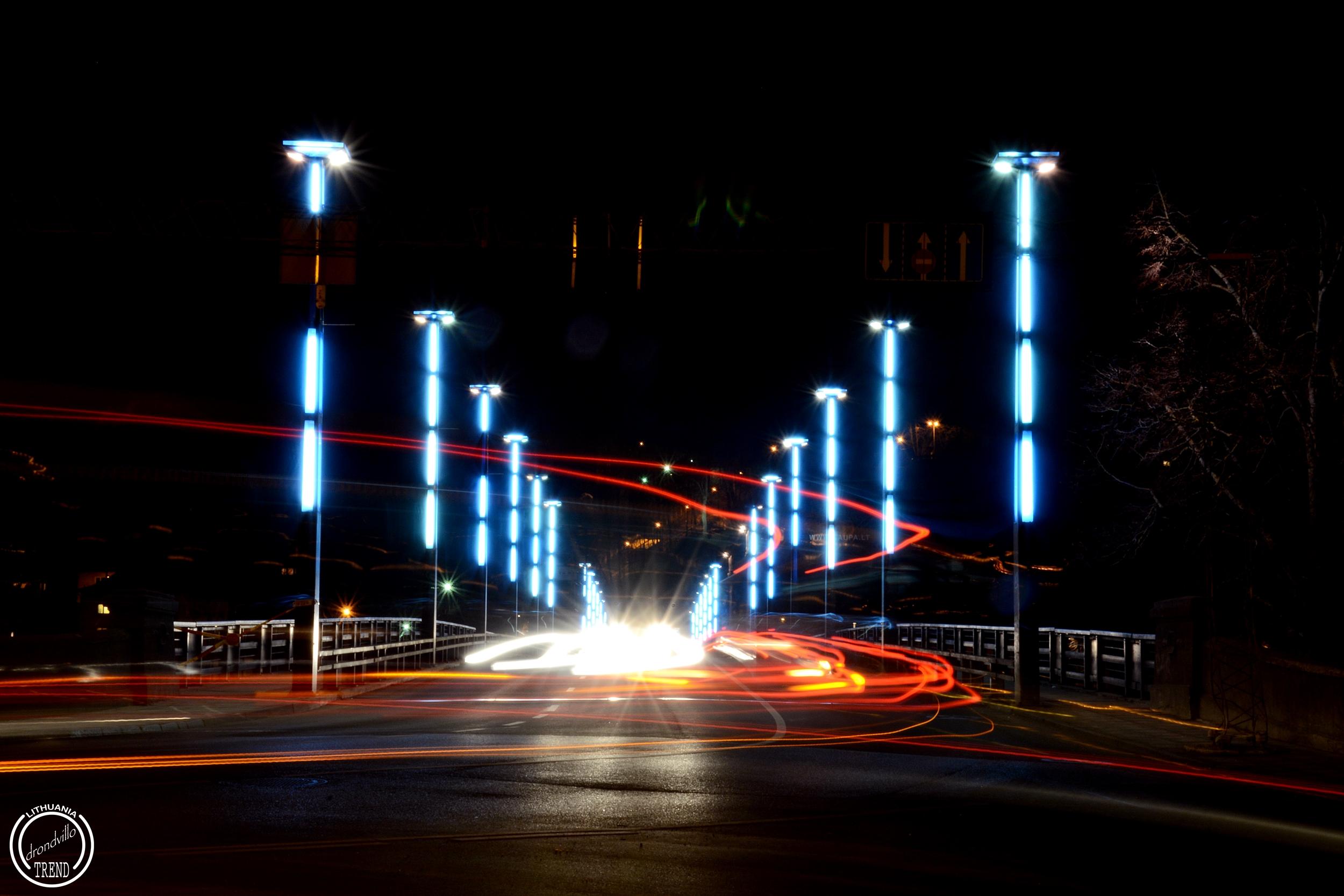 aleksoto tiltas nakti